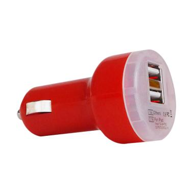 EVERFAST Dual USB Car Charger - Red [3.1A Fast Charger]