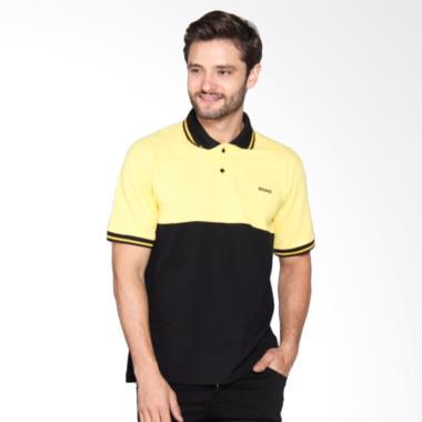 Bronco Slim Fit Polo Shirt - Yellow Black 3009