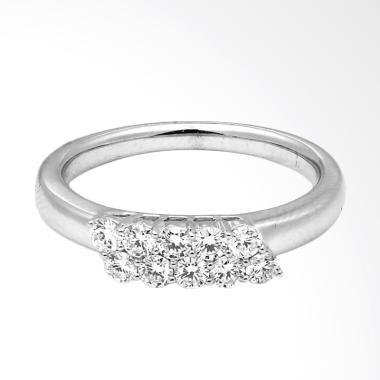 Lino P1609280009 Cincin Berlian Emas Putih 18K VVS
