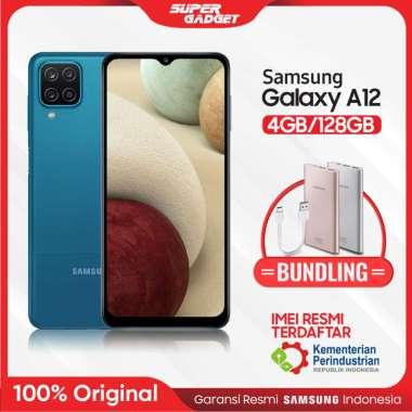 harga Samsung A12 4/128 GB Galaxy RAM 4 ROM 128 4/128GB 5000 mAH Murah Resmi + Bundling Powerbank Samsung Type C 10000 mAh PINK Blue Blibli.com