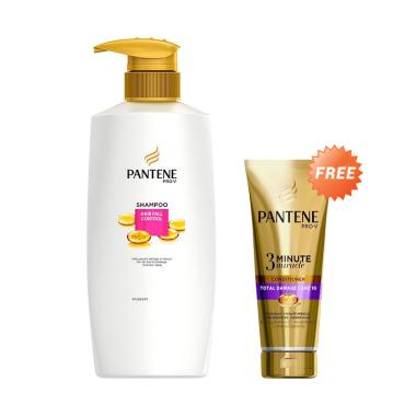 Pantene Shampoo Hair Fall Control 480 mL + Pantene Conditioner 3 Minutes Miracle Quantum Hair Fall Control 180 mL