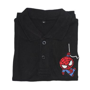 Cotton Kerah Karakter Spiderman Kaos Polo Anak