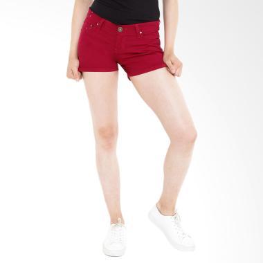 Mobile Power B7705B Ladies Basic Short Pants - Red
