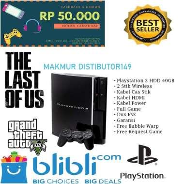harga PLAYSTATION PS 3 FAT [ HDD 40 GB ] FULL GAME + FREE 2 STIK WIRELLES Blibli.com