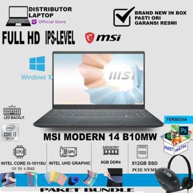 harga MSI Modern 14 B10MW (i3-10110U/512GB.SSD/8GB/UMA/Win10/14