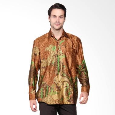 Batik Heritage Exclusive Linen Mega ... eja Panjang Pria - Yellow