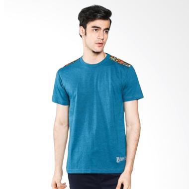 Batik Heritage Full Color T-Shirt Batik Atasan Pria - Tosca