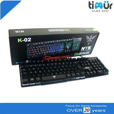 harga T&T Keyboard Gaming Murah NYK K-02 RGB LED Back Blibli.com