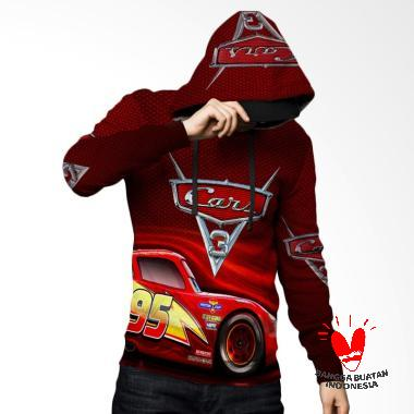 Fika Tema Cars 3 D Full Print Subli ... rt 5 Jaket Hoodie Sweater