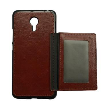 OEM Wallet Casing for Meizu M3 Note - Coklat