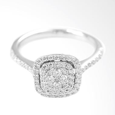 Lino P1606250004 Cincin Berlian Emas Putih [18K VVS]