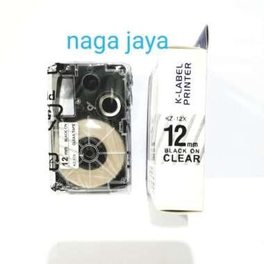 harga Casio k-label 12 mm black on clear tape kz-12x for casio ez printer MULTICOLOR Blibli.com