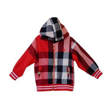 GBS Burberry Hoodie Jacket Red