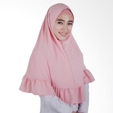 Hijab Bandung Kerudung Instant Alda Jilbab Instant - Dusty Pink