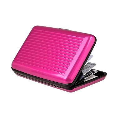 TokoLinggauCom Dompet Kartu Alumini ... d Aluminium Wallet - Pink