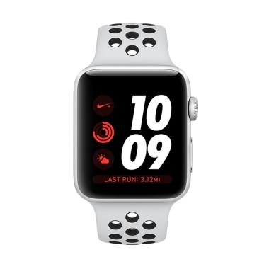 Apple Watch Series 3 GPS Nike+ 38mm ... tinum Smart Watch - White