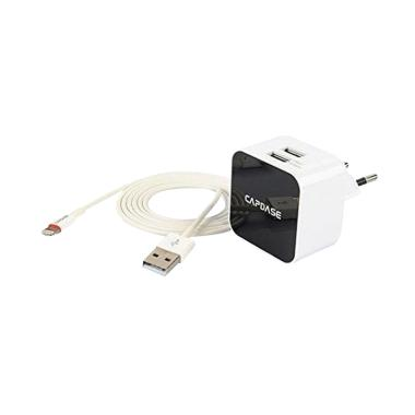 Capdase Cube K2 Dual USB Adaptor with Lightning Cable MFi [2.4 A]
