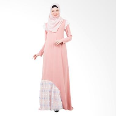 Valisha Edeline Dress Muslim - Pink Peach