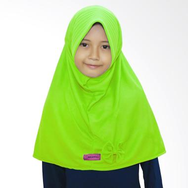 BajuYuli Kerudung Polos Pita Cantik Jilbab Anak - Hijau Stabilo