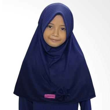 BajuYuli Kerudung Polos Pita Cantik Jilbab Anak - Navy