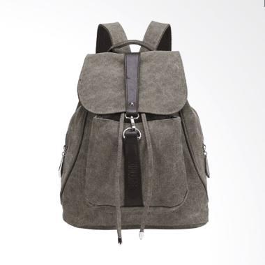 Martinversa TRW5 Backpack Kanvas Tas Impor Ransel Wanita - Army Green