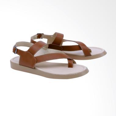 Garsel GIA 8529 Flats Sandal Wanita - Cokelat