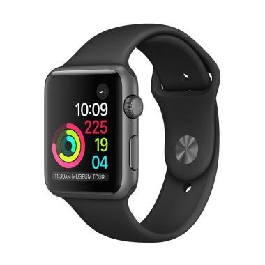 Apple Watch Series 3 GPS Space Grey Alum with Black Sport Band [38 mm]