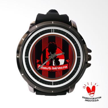 Fika AC Milan Bagus Rubber Custom Jam Tangan Pria