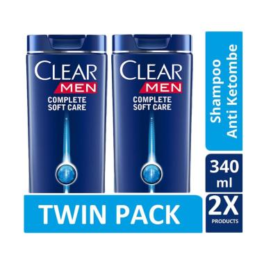 CLEAR Men Anti Ketombe Complete Soft Care Shampoo [340 mL/Twin Pack]