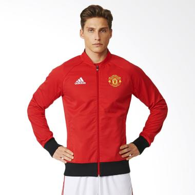 adidas Manchester United FC Anthem Soccer Jacket Pria - Red [AI5401]