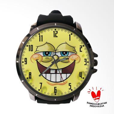 Fika SPONGEBOB Keren Rubber Custom Jam Tangan Pria