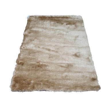 Tren-D-rugs Karpet Shaggy Polos - Beige [150 x 200 cm]