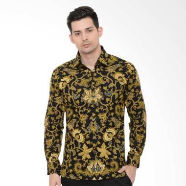 Alisan Kemeja Batik Lengan Panjang - Kuning