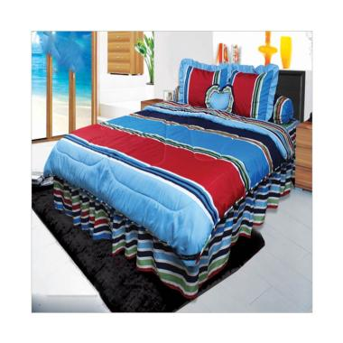 California Calico Set Sprei dan Bed Cover - Blue
