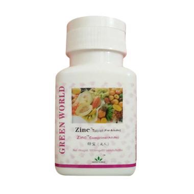 Green World Zinc Suplemen Kesehatan [Tablet Untuk Dewasa/60 Tablet]