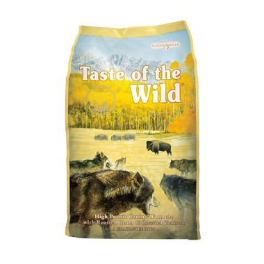 Taste of the Wild High Prairie Canine Formula with Roasted Bison & Roasted Venison Makanan Anjing [15 lbs]