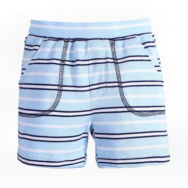 Mom N Bab Short Pants Celana Anak Laki-Laki - Blue White Stripe