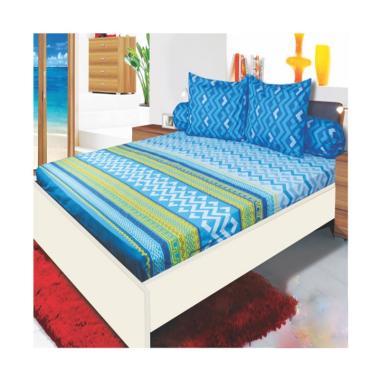 My Love Aztec Set Sprei - Blue [Tinggi : 30 cm]