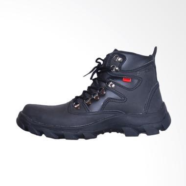ZimZam Everest Safety Sepatu Boot Pria - Full Black