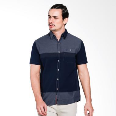 Cardinal Jeans Shirt Slim CAKX007 02H Fit Kemeja Pria - Blue
