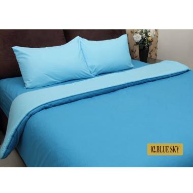 Chelsea Gold Polos Set Sprei dan Bed Cover - Blue Sky