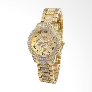 CONTENA WAT8081J Fashion Diamond Ladies Watch Jam Tangan Wanita - Gold