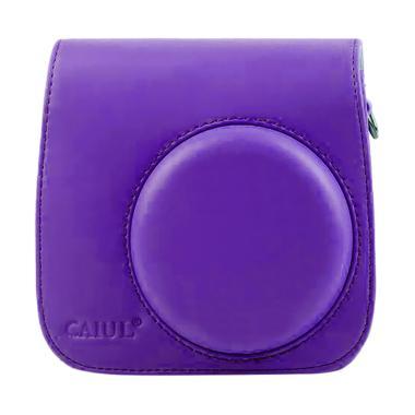 Fujifilm Leather Bag Kamera Instax Mini 8 & 9 Tas Polaroid Case - Ungu