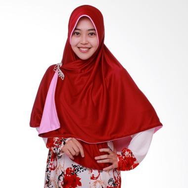 Pricilla Bolak Balik P1 Jilbab Instant - Red Pink