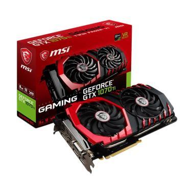 MSi GTX 1070Ti Gaming Graphics Card - Black Red [8 GB]
