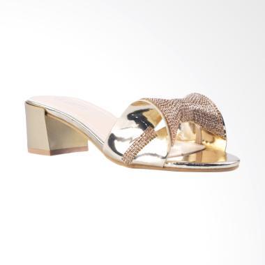 Clarette Clemence Sandal Heels - Gold