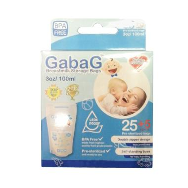 Gabag Breast Milk Storage Bags - Biru