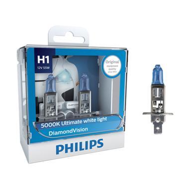 PHILIPS Diamond Vision H1 5000K Lampu Halogen