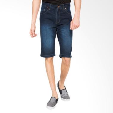 2Nd RED Short Pants Denim Celana Pendek Pria - Biru Tua [151614]