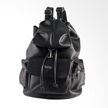 Inficlo Bag Backpack Ransel Kasual Tas Punggung Wanita - Hitam